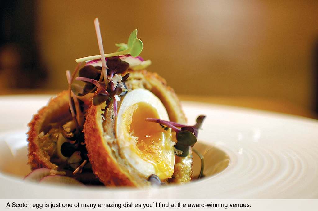 A Scotch egg is just one of many amazing dishes you'll find at the award-winning venues at Cairdean Estate.