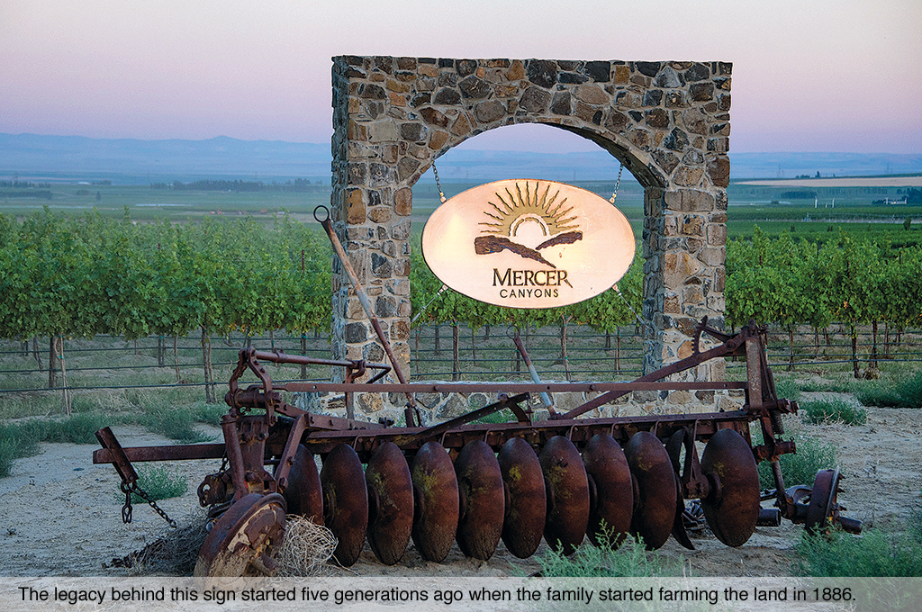 The legacy behind this sign started five generations ago when the family started farming the land in 1886.