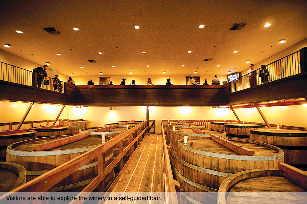 Visitors are able to explore the winery in a self-guided tour.