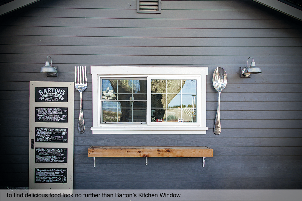 To find delicious food look no further than Barton's Kitchen Window.