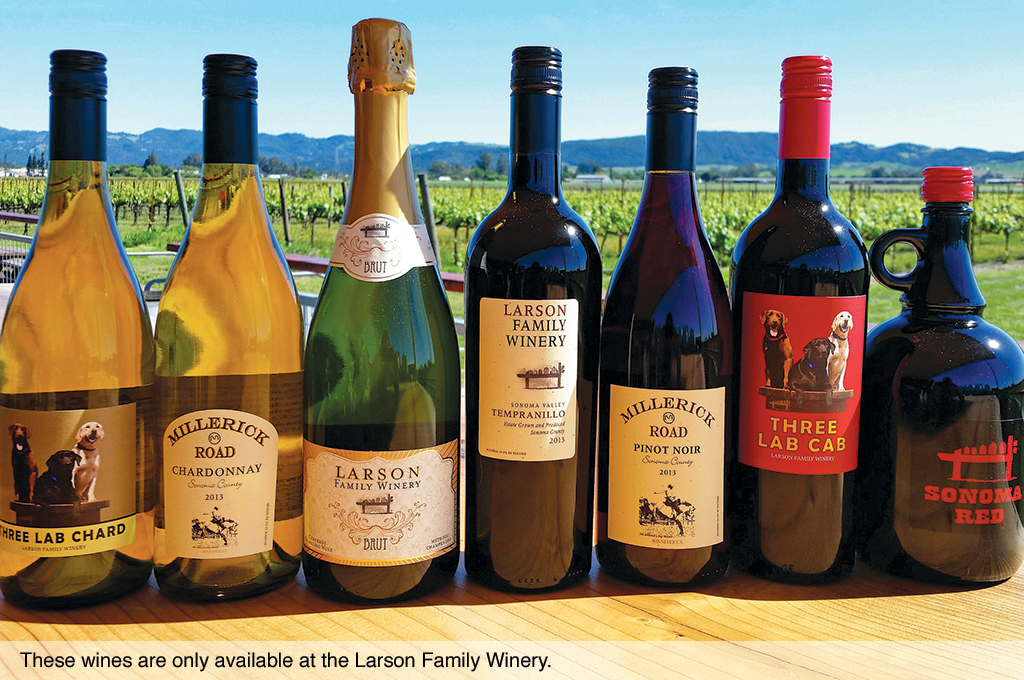 These wines are only available at the Larson Family Winery.