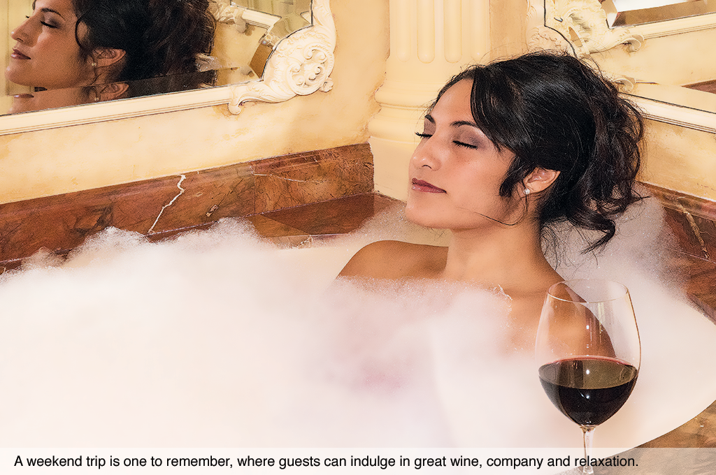A weekend trip is one to remember, where guests can indulge in great wine, company and relaxation.