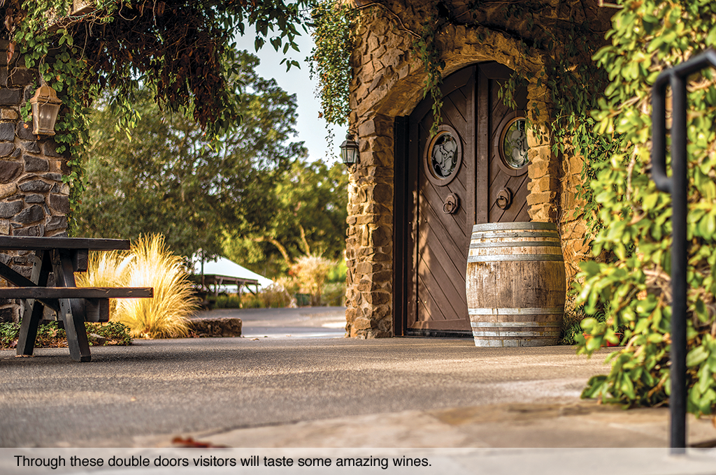 Through these double doors visitors will taste some amazing wines.