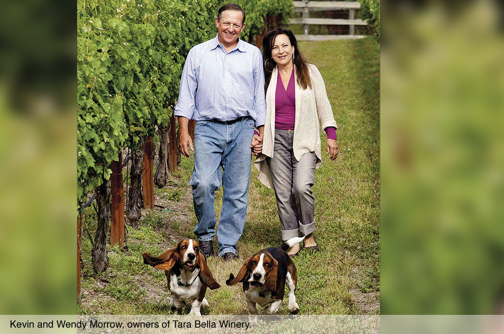 Kevin and Wendy Morrow, owners of Tara Bella Winery.