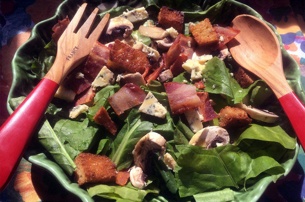 Something for Everyone Spinach and Bacon Salad