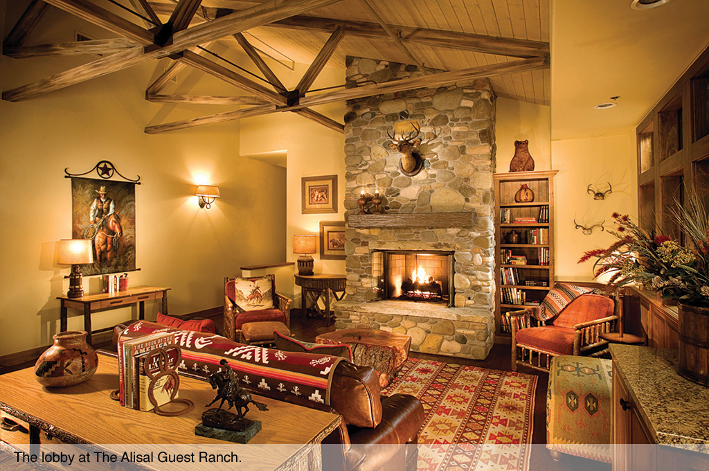 The lobby at The Alisal Guest Ranch.