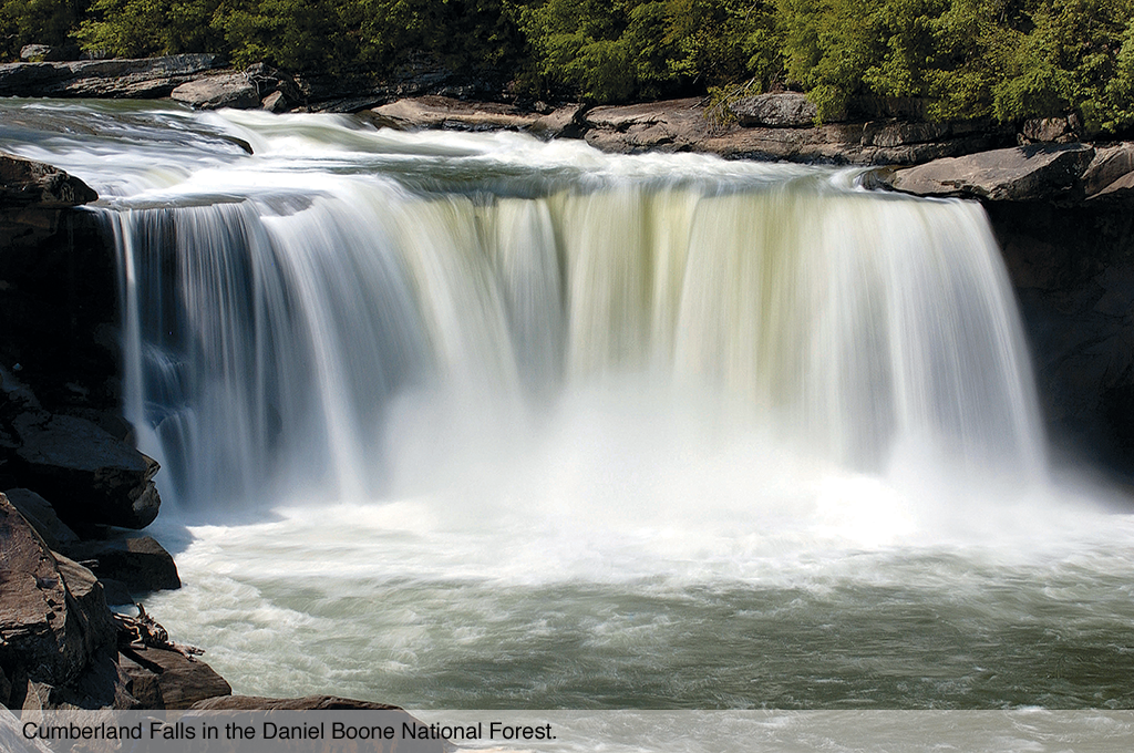Cumberland Falls in the Daniel Boone National Forest.