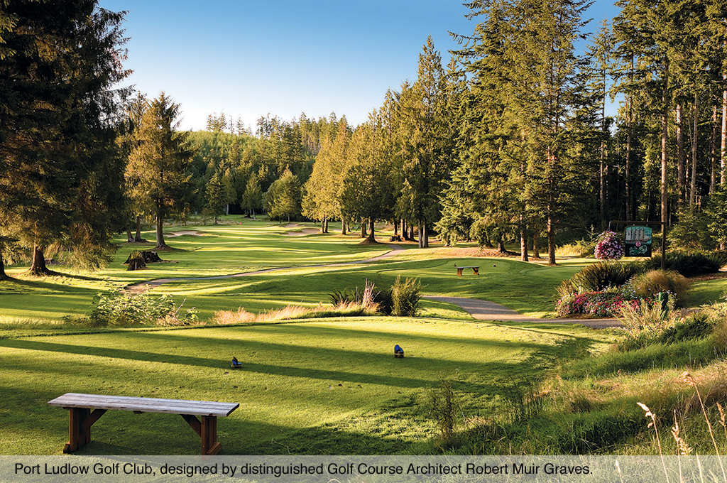 The picturesque Port Ludlow Golf Club