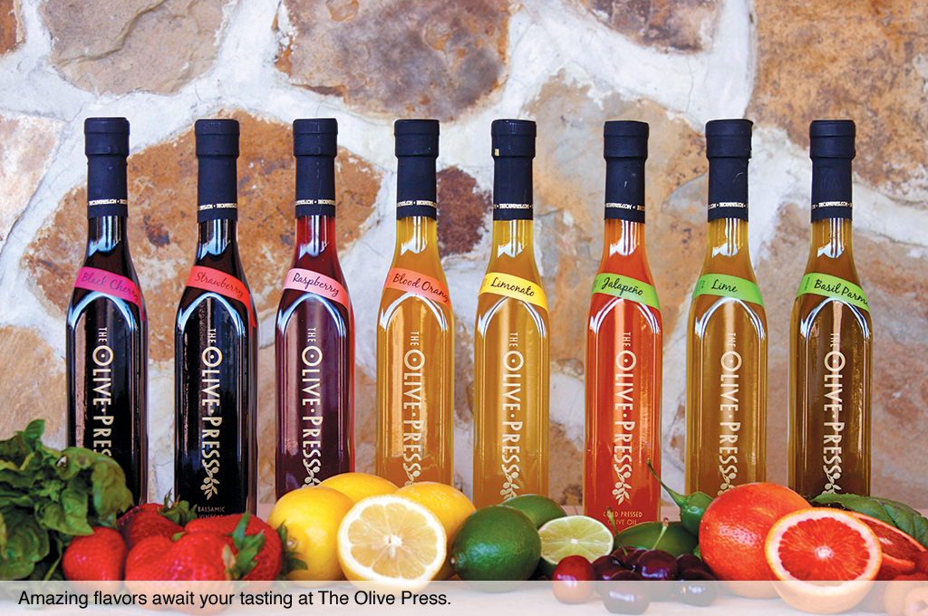 Amazing flavors await your tasting at The Olive Press.