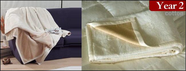 DownTown Natural Cotton Reversible Blanket and Throw