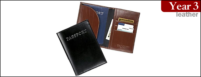 RFID Blocking Passport and Doc Leather Holder