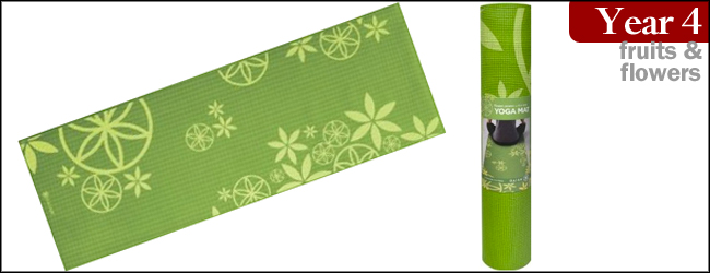 Gaiam Flower Power 5mm Premium Yoga Mat
